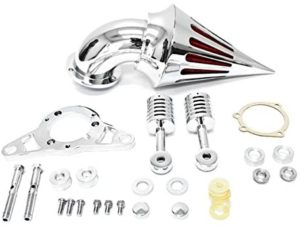 Krator Night Train Fat Boy Dyna Super Glide Low Rider Wide Touring Road King Chrome Aluminum Cone Spike Air Cleaner